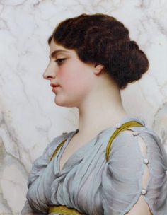 https://flic.kr/p/LYuVKW | John William Godward - A Roman Beauty [1912] | [Private Collection - Oil on canvas, 50.5 x 40.6 cm]