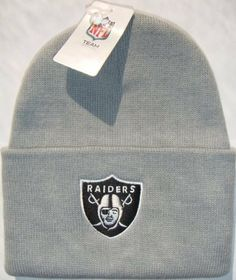 e3306776fde Oakland Raiders NFL Long Beanie Knit Cap Hat Light Grey by MLB Snap Back  Caps.  11.95. NFL long knit beanie cap. Brand new with tags attached.