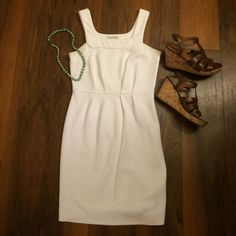 Banana Republic White Dress Super cute white dress from Banana! Great with wedges or flip flops for a more casual look. Cute cinching at waist line is rally flattering. Banana Republic Dresses Mini