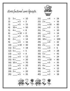 Imagini pentru fise de lucru clasa 3 matematica inmultirea