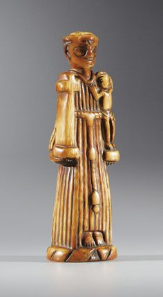 Ivory statuette of Saint Anthony, Democratic Republic of Congo, circa 18th century