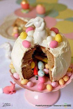 By Éphémeride seasonal calender Easter Dinner, Easter Brunch, Easter Party, Dessert Original, Pinata Cake, Fantasy Cake, Easter Celebration, Easter Cookies, Easter Cake