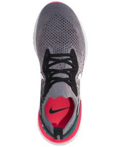 e16ad7794d798 Nike Women s Epic React Flyknit Running Sneakers from Finish Line - Black  7.5