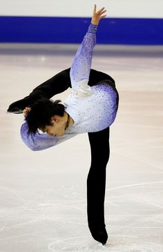 Japan's Hanyu performs during the men's short program at the ISU Grand Prix of Figure Skating final in Barcelona