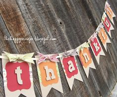 Create a beautiful Thankful banner to hang in your home for the Thanksgiving season. Use your Cricut to cut the pieces, then put it together.
