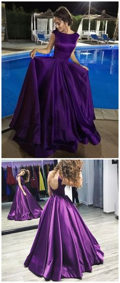 Purple Prom Dresses, Prom Dress, Evening Dresses, Formal Dresses, Graduation Party Dresses, Banquet Gown