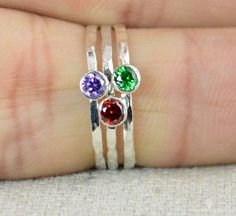Stacking Mothers Ring Silver Mothers Ring by Alaridesign on Etsy