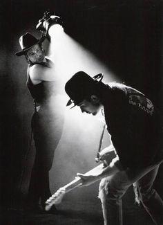 Bono & The Edge for Rattle and Hum by Anton Corbijn. U2 Music, Music Icon, Live Music, Rock Music, Pop Rock, Rock And Roll, U2 Show, U2 Poster, U2 Joshua Tree Tour