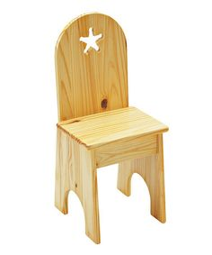 Take a look at this Natural Star Solid Back Chair by Little Colorado on #zulily today!