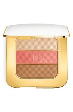 Spring beauty must-have: Tom Ford highlighter palette with blush, bronzer and highlighter. Love all three colors! It's gorgeous, soft, natural and easy to apply.
