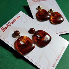 Tammy faux tortoiseshell hoop earrings, , Earrings, Bow & Crossbones, Bow & Crossbones   - 1