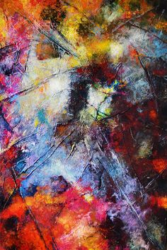"Aga Osak ""Energy II"" mixed media, abstract, 50 x 70cm"