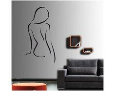 Γυνακεία σιλουέτα 1 , Αυτοκόλλητο τοίχου Home Decor, Homemade Home Decor, Interior Design, Home Interiors, Decoration Home, Home Decoration, Home Improvement