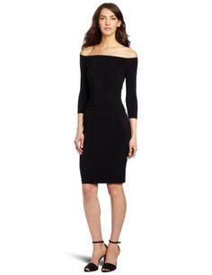 KAMALIKULTURE Women's Off The Shoulder Shirred Waist Dress Review
