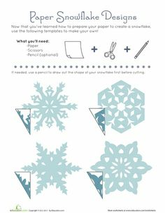 Worksheets: Paper Snowflake Patterns DIY