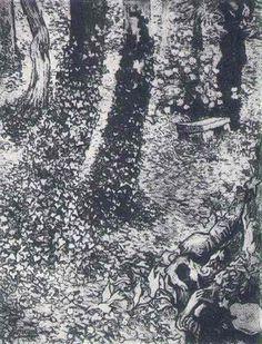 Vincent van Gogh, Ivy (A Corner in the Garden of Saint Paul Hospital)