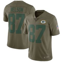 57fecbbaa58 Jordy Nelson Green Bay Packers Nike Salute To Service Limited Jersey - Olive