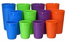 12-Piece Newport Unbreakable Plastic Tumblers | four each 10-ounce Plastic Tumblers, Plastic Cups, Life Savers, Newport, Tableware, Top, Dinnerware, Tablewares, Dishes