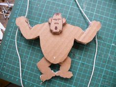 Climbing Cardboard Gorilla