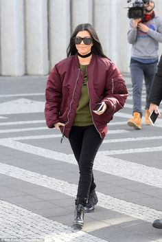 Happier than ever: The 37-year-old stunner - who split from Scott in July last year after a nine-year relationship - celebrated her birthday on Monday in Iceland with her sister Kim Kardashian and her sibling's husband Kanye West
