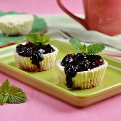 Mini cheesecakes aux cassis