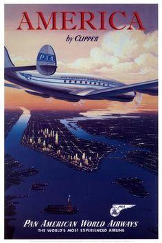 Amerika im Clipper, Englisch Poster bei AllPosters.de