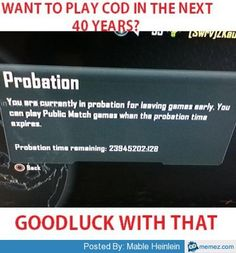 Call of Duty probation | Memes.com