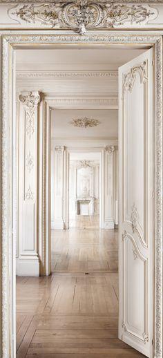 Wallpaper panel : Perspective D intérieur Haussmannien H.2,50 x L.1,36 m - Koziel