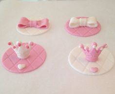"""Baby Shower cupcake fondant toppers"""