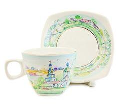 $20.00 Special Price - Summertime Landscape Ceramic Cup & Saucer Set from the Ceramic Workshop of St. Elisabeth Convent - Visit our website: http://catalog.obitel-minsk.com/ceramics-workshop #CatalogOfGoodDeeds #teapot #pottery #ceramic #handmade #purchase #order #customize #flowers #deliver #worldwide #shipping #cup #plate #sugar bowl #unique #glaze #mugs #unique #tea set #handpainted #purchase #buy #gift #souvenir #present #online #crafts #teapot #tea #overglaze #quality