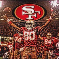 """Jerry Rice. #sanfran #hof #best #49ers #bvl_graffix #wr #td #superbowl #edit #espn #cool #nfl #nfc #nfcwest #niners"""