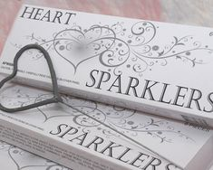 Heart shaped sparklers - cute idea for the sparklers I'd like to have at the wedding. <3