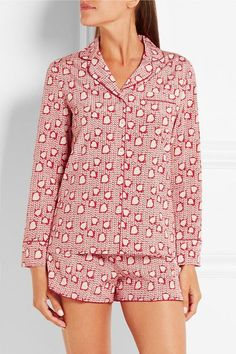 469190171775 Stella McCartney - Poppy Snoozing printed stretch-silk crepe de chine  pajama set