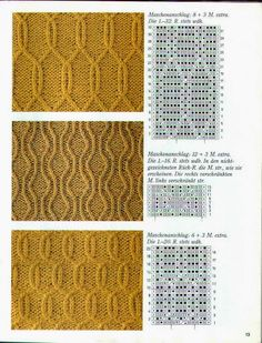 kötésminták - Macleod a - Picasa-Webalben Lace Knitting Stitches, Cable Knitting Patterns, Knitting Charts, Knitting Socks, Knitting Needles, Lace Patterns, Stitch Patterns, Purl Stitch, Beanies