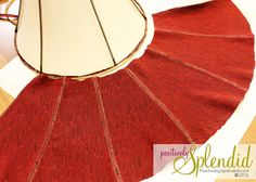 Recovering a lamp shade - I have one or two that need redoing.