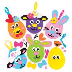 Buy Easter Egg Funny Face Decoration Kits at Baker Ross. Easter Images Free, Easter Sunday Images, Easter Pictures, Funny Easter Eggs, Easter Bunny Eggs, Easter Crafts For Kids, Easter Ideas, Happy Easter Quotes, Happy Easter Gif