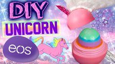 New VID!! DIY Unicorn EOS Lip Balm! | Rainbow Glitter EOS…