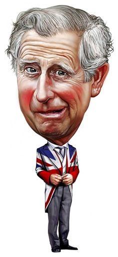 Prince Charles- illustration of Romeo Raileanu