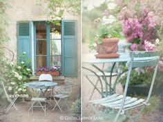 I would like to make my little sunroom like this and will find the table & chairs and paint this exact color.