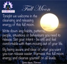 FULL MOON release and cleanse♡ Many blessings Jade Kyles Psychic ♡ Thanks for connecting. I would love you to visit me at www.jadekyles.com or on fb at www.facebook.com/jadekylespsychic . You can also subscribe to my channel at www.youtube.com/jadekylespsychic