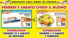 Conad: coupon per acquistare le mele Golden al 50% di sconto (01 e 02 Febbraio 2013)