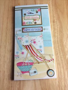 Book And Frame, Birthday Cards, Happy Birthday, Hunky Dory, Little Books, Handmade Cards, Seaside, Card Ideas, Card Making