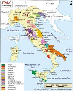 Italian wine regions - i love piedmont and abruzzi