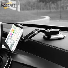 Free shipping KISSCASE Universal Car Phone Holder Adjustable Mobile Phone Dashboard Holder For iPhone 8 X Samsung GPS Windshield Stand Holder ....click link to buy....  #iphone #iphone8 #iphone7