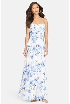A floral print georgette bridesmaid dress  from @ralphlauren | Brides.com