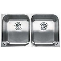 31-1/8X18 18 gauge Undercounter Double Bowl Kitchen SINK Stainless Steel