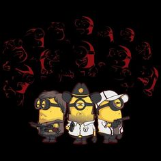 Camiseta Minions The Walking Dead.