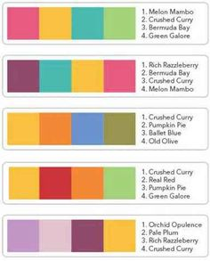 Stampin Up! Color Combinations