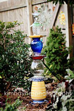 Kim Haynes Photography: Glass Garden Totums - Trash to Treasure