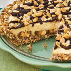 Snickers chocolate bar pie